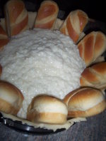 Cake pan, Dough , Buns, Rice pudding